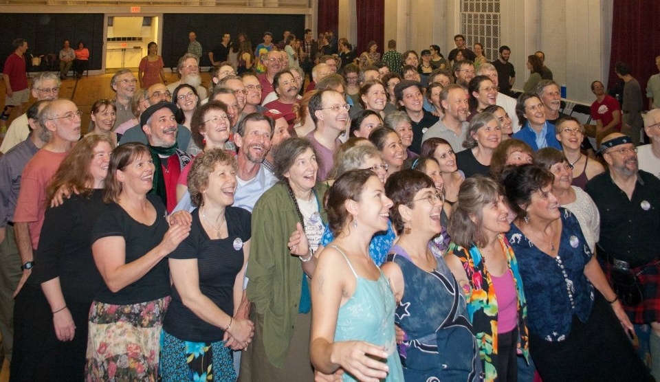 Organizers stop for a group pic at the Saturday night dance of the 2011 POTD - check out more on our Past POTDs media page.